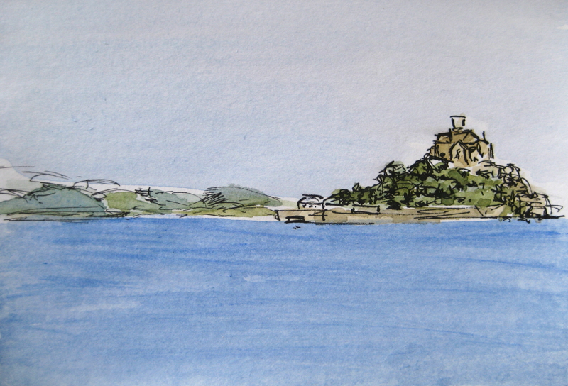 St Michaels Mount from Long Rock