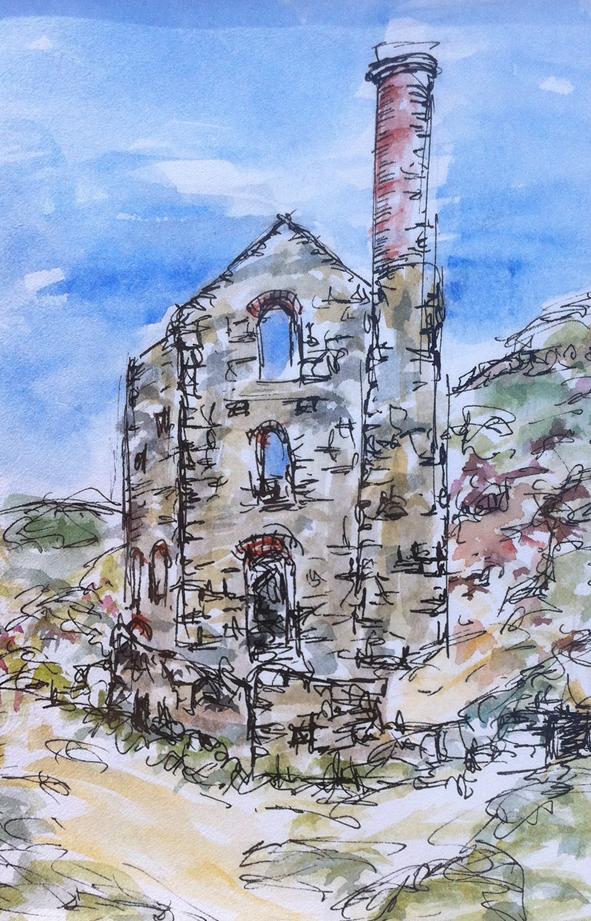 Towanroath engine house sketch