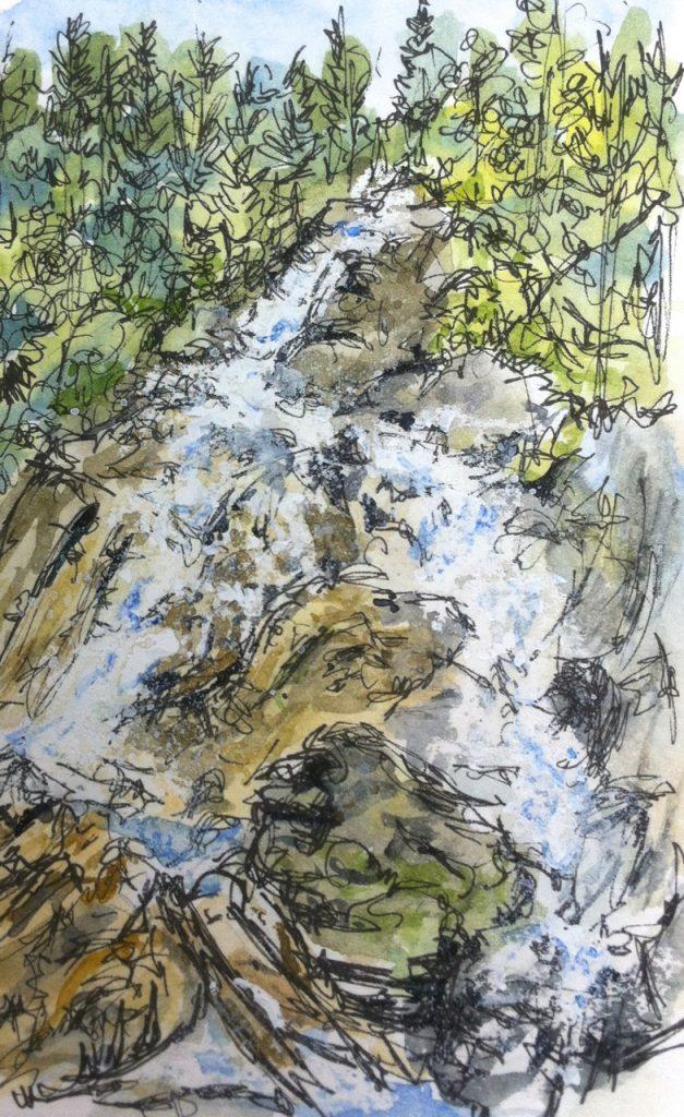 Waterfall at Hintertux