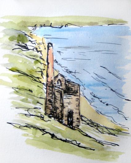 Wheal Coates and coastline