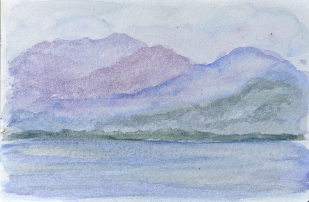 cloudy lake leman