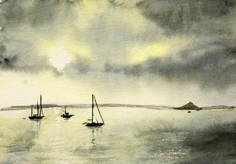Grey sky in Mounts Bay