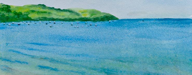 Paintings of Helford river
